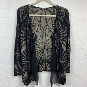 Nic + Zoe Cardigan Sweater Large Petite Black A200